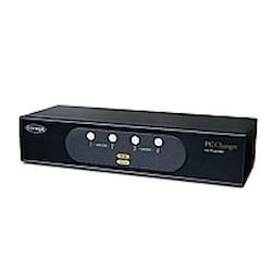 コレガ CG-PC4KVMC-W PC自動切替器 ボックスタイプ 4台用