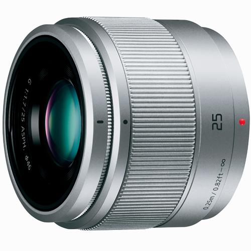 【長期保証付】パナソニック LUMIX G 25mm/F1.7 ASPH.(シルバー)