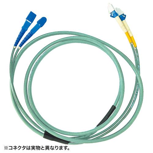 サンワサプライ HKB-FCFCTA5-30(アクアマリン) タクティカル光ファイバケーブル 約30m