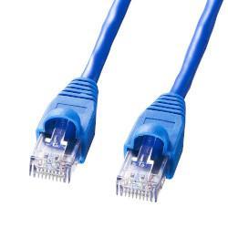 サンワサプライ KB-10T350-50N(ブルー) カテゴリ5/350M単線ケーブル 50m