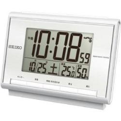 在庫あり 14時までの注文で当日出荷可能 セイコー SQ698S 電波目覚まし時計 テレビで話題 温湿度計付き 国内送料無料 デジタル