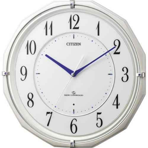 シチズン 4MY822-003 スリーウェイブM822 電波掛け時計