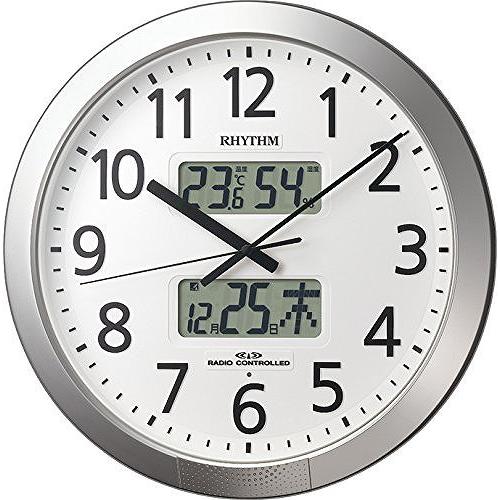 リズム時計 4FN404SR19 プログラムカレンダー404SR 電波掛け時計