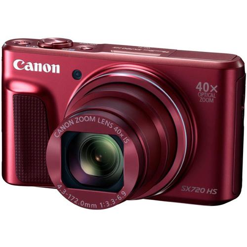 【長期保証付】キヤノン CANON 光学40倍ズーム W-Fi対応 コンパクトデジカメ PowerShot SX720 HS(レッド)