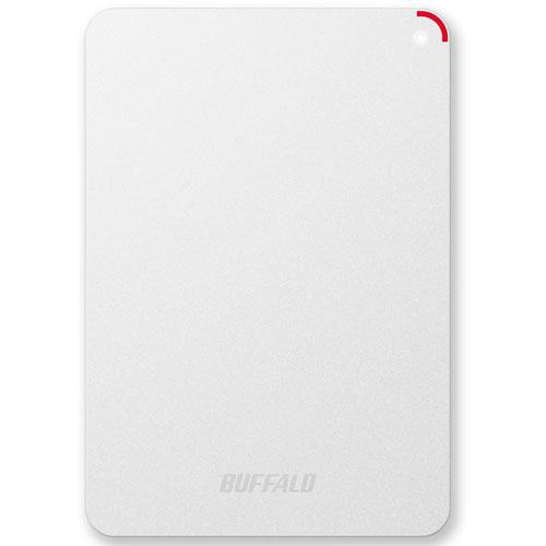 バッファロー HD-PSF4.0U3-GW(ホワイト) 外付けHDD 4TB USB3.0/2.0接続 耐衝撃