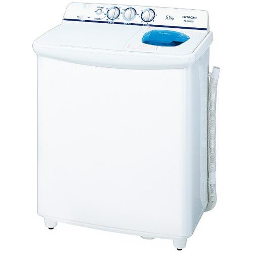 【設置】日立 PS-55AS2-W(ホワイト) 青空 2槽式洗濯機 洗濯5.5kg