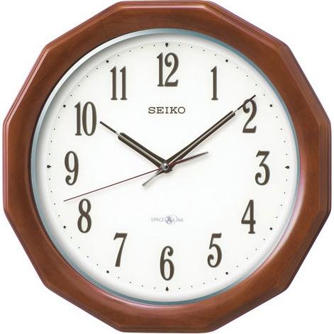 セイコー GP215B(ラバーウッド茶木地) 衛星電波掛け時計