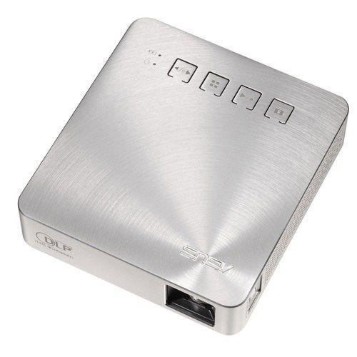 【長期保証付】ASUS モバイルプロジェクター 200lm バッテリー内蔵 6000mAh FWVGA S1(シルバー)
