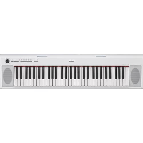 【長期保証付】ヤマハ YAMAHA 電子キーボード 61鍵盤 piaggero ピアジェーロ NP-12WH ホワイト ボックス型鍵盤/音色紹介デモ10曲/ピアノ名曲10曲/録音機能/AWMステレオサンプリング/最大同時発音数64/音色数10