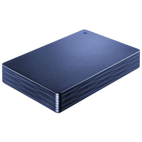 IODATA HDPH-UT2DNV(ミレニアム群青) カクうす Lite ポータブルHDD 2TB USB3.0接続