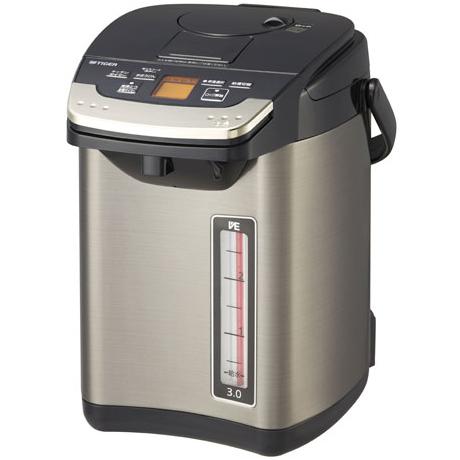 【長期保証付】タイガー魔法瓶 PIG-S300-K(ブラック) とく子さん 蒸気レスVE電気まほうびん 3.0L