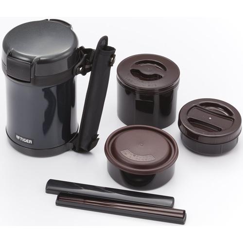 在庫あり 14時までの注文で当日出荷可能 日時指定 タイガー魔法瓶 ステンレスランチジャー ごはん0.61L おかず0.34L マットブラック スープ0.27L LWU-A172KM まとめ買い特価