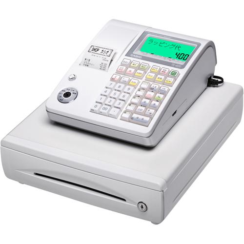 【長期保証付】CASIO TE-400-WE(ホワイト) レジスター 10部門