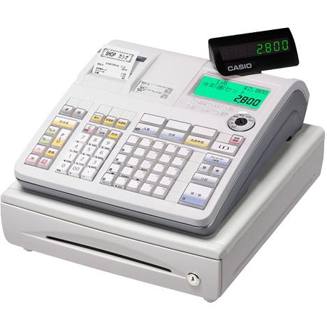 【長期保証付】CASIO TE-2800-25S(ホワイト) ネットレジ 25部門