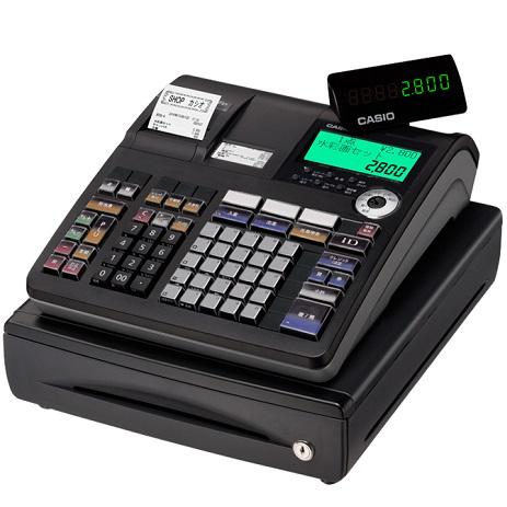 【長期保証付】CASIO TE-2800-25SBK(ブラック) ネットレジ 25部門