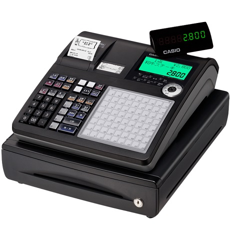 CASIO 「軽減税率対策補助金」対象 TK-2800-4SBK(ブラック) ネットレジ 4部門