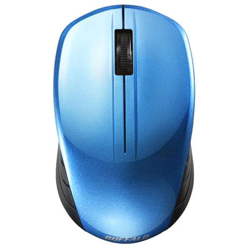 【在庫あり】14時までの注文で当日出荷可能! バッファロー BSMBW100BL(ブルー) USB ワイヤレスBlueLEDマウス 無線(2.4GHz)接続 3ボタン