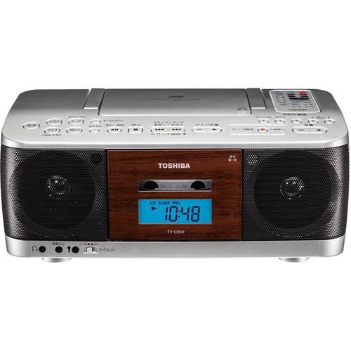 東芝 TY-CDK9-S(シルバー) CDラジオカセットレコーダー ワイドFM対応