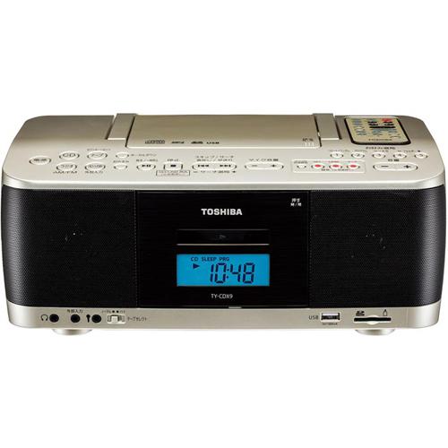 東芝 CDラジオカセットレコーダー ワイドFM対応 TY-CDX9-N(サテンゴールド)