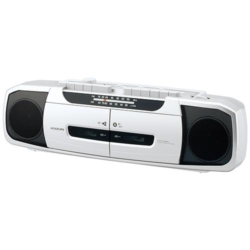 コイズミ SAD-1233/S(シルバー) ラジカセ ワイドFM対応