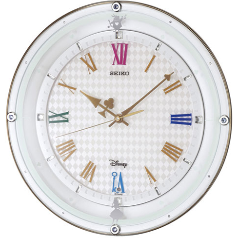 セイコー FS509W ディズニー ふしぎの国のアリス 電波掛け時計