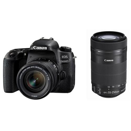 キヤノン CANON 2420万画素 Bluetooth対応 デジタル一眼レフカメラ 標準ズームレンズ 望遠ズームレンズ 付属 EOS 9000D ダブルズームキット
