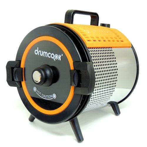 【長期保証付】Drumcook(ドラムクック) ヘルシー グリルポッドが回転して加熱調理 DR750N
