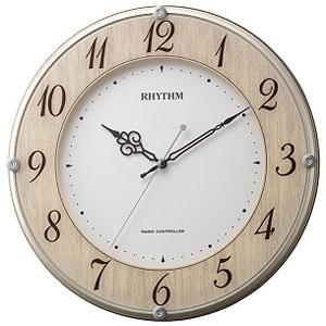 リズム時計 8MY506SR23(木目仕上) ライブリーナチュレ 電波掛け時計