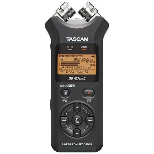 TASCAM タスカム リニアPCMレコーダー ICレコーダー ブラック DR-07MK2JJ 高音質録音/音楽制作