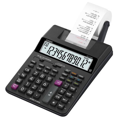 CASIO HR-170RC-BK セミデスクタイプ 12桁 プリンター電卓