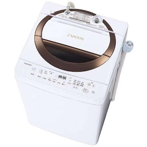 【設置+リサイクル】東芝 AW-6D6-T(ブラウン) 全自動洗濯機 上開き 洗濯6kg