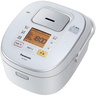 【長期保証付】パナソニック SR-HB107-W(ホワイト) IHジャー炊飯器 5.5合
