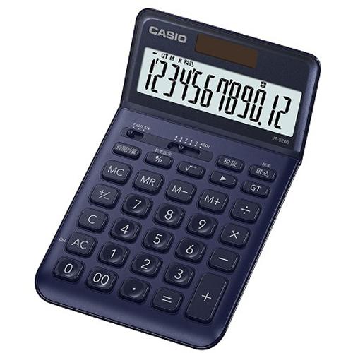 【在庫あり】14時までの注文で当日出荷可能! CASIO JF-S200-NY(ネイビー) スタイリッシュ電卓 12桁