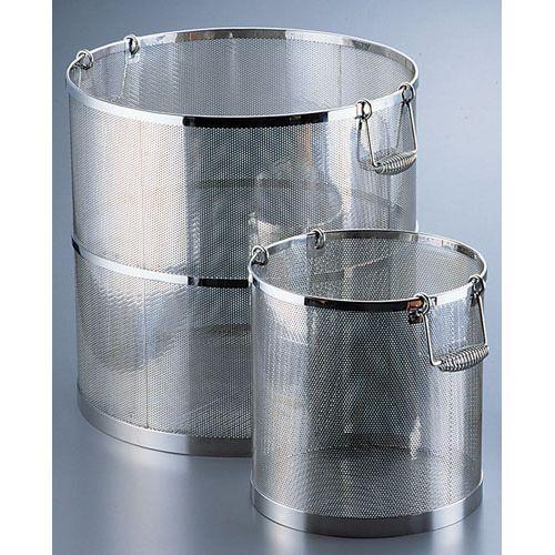 三宝産業 UK 18-8パンチング丸型スープ取りざる 39cm用 4520785005459