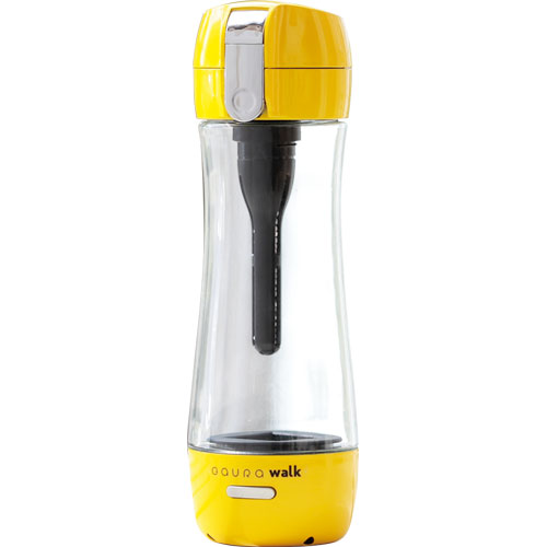【長期保証付】ガウラ GR-JYW(イエロー) ポータブル水素水ボトル GAURAwalk(ガウラウォーク) 300ml GAURAWALKGRJYWひんやり 熱対策 アイス 冷感 保冷 冷却 熱中症 涼しい クール 冷たい