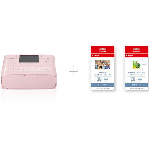 【長期保証付】CANON SELPHY(セルフィー) CP1300(ピンク) コンパクトフォトプリンター カードプリントキット