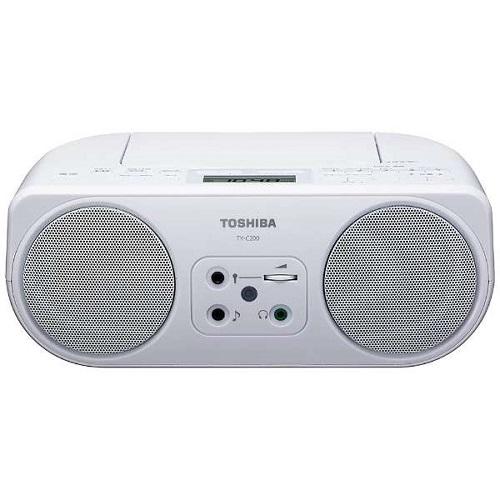 東芝 TY-C200-W(ホワイト) CDラジオ ワイドFM対応