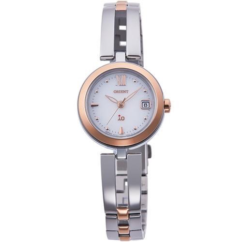 【長期保証付】オリエント RN-WG0002S(ホワイト) イオ ソーラー 腕時計(レディース)