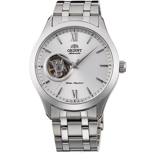 【長期保証付】オリエント RN-AG0002S スタンダード セミスケルトン 機械式時計 (メンズ)