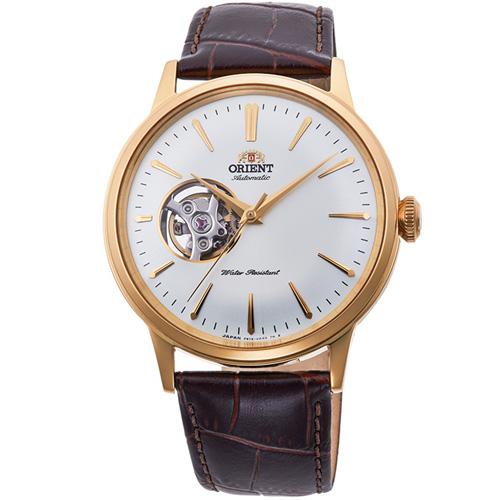 【長期保証付】オリエント RN-AG0006S クラシック セミスケルトン 機械式時計 (メンズ)