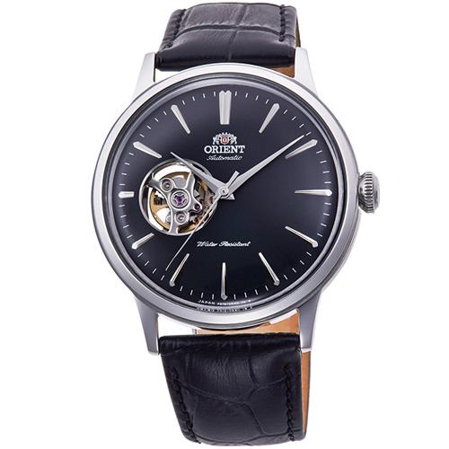 【長期保証付】オリエント RN-AG0007B クラシック セミスケルトン 機械式時計 (メンズ)