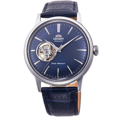 【長期保証付】オリエント RN-AG0008L クラシック セミスケルトン 機械式時計 (メンズ)