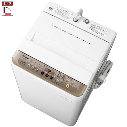 【長期保証付】パナソニック NA-F60PB11-T(ブラウン) 全自動洗濯機 上開き 洗濯6kg/乾燥2kg