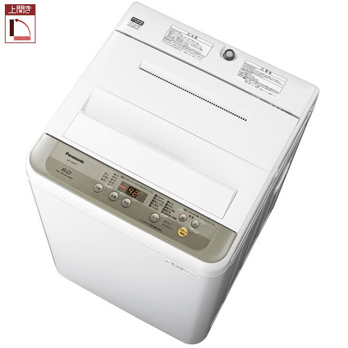 パナソニック NA-F60B11-N(シャンパン) 全自動洗濯機 上開き 洗濯6kg/乾燥2kg