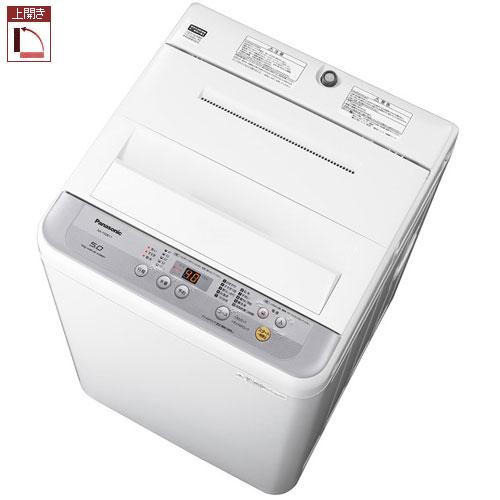 【設置+リサイクル+長期保証】パナソニック NA-F50B11-S(シルバー) 全自動洗濯機 上開き 洗濯5kg/乾燥1.5kg