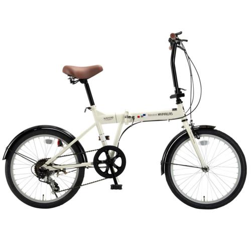 マイパラス 20インチ 折畳自転車20・6SP M-208-IV(アイボリー)