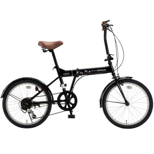 マイパラス 20インチ 折畳自転車20・6SP M-208-BK(ブラック)
