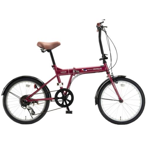 マイパラス 20インチ 折畳自転車20・6SP M-208-RO(ルージュ)