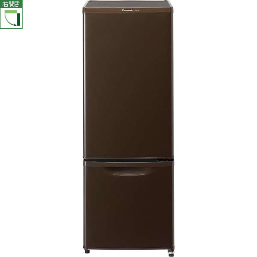 【長期保証付】パナソニック NR-B17AW-T(マホガニーブラウン) 2ドア冷蔵庫 右開き 168L