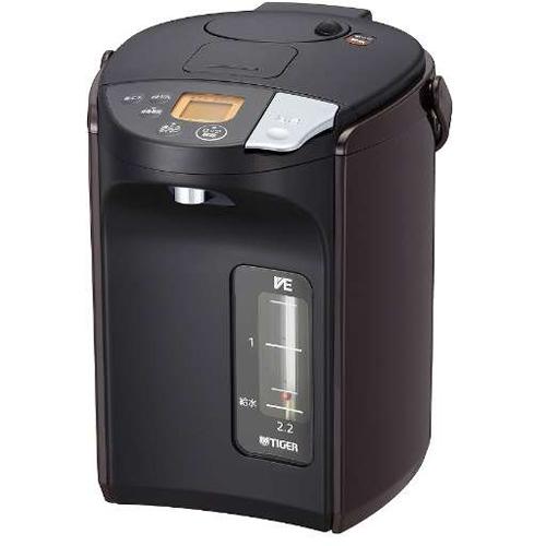 タイガー魔法瓶 PIS-A220-T(ブラウン) とく子さん 蒸気レス VE電気まほうびん 2.2L